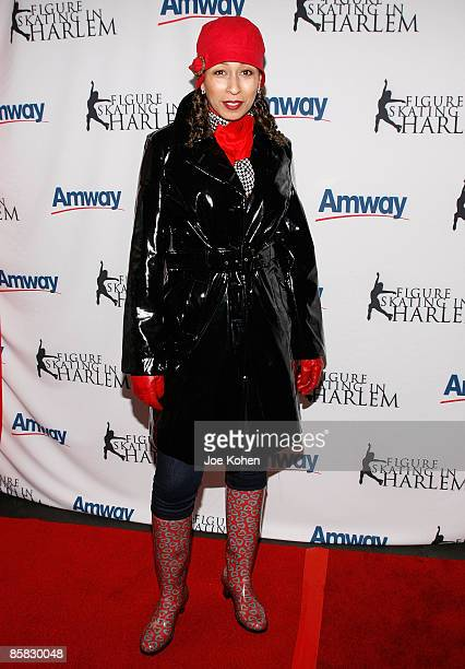 Actress Tamara Tunie attends the 2009 Skating with the Stars at Wollman Rink in Central Park on April 6 2009 in New York City