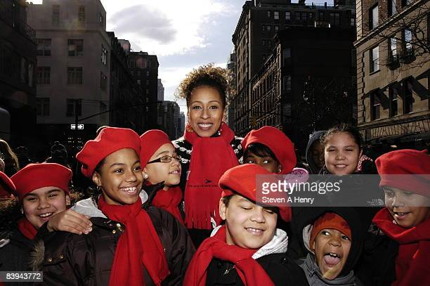 Actress Tamara Tunie attends the Children's Aid Society's 2008 Miracle on Madison Avenue at 69th Street on December 7 2008 in New York City