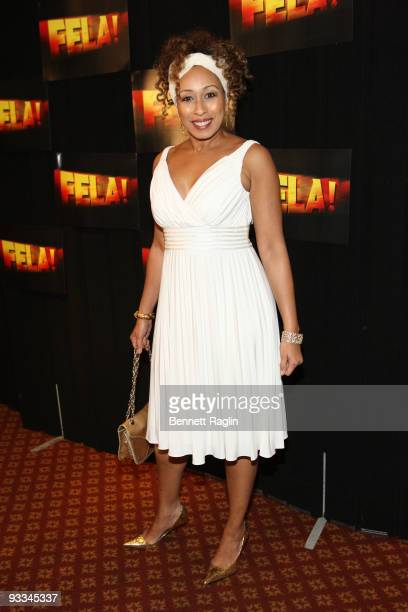 """Actress Tamara Tunie attends the opening night party for """"Fela!"""" on Broadway at the Gotham Hall on November 23, 2009 in New York City."""