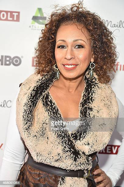 """Actress Tamara Tunie attends the screening of """"Red Road"""" at the 2015 Atlanta Film Festival at The Plaza Theatre on March 29, 2015 in Atlanta, Georgia."""
