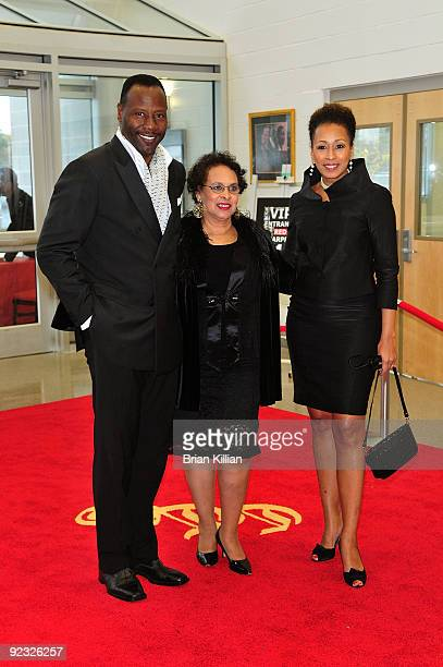 Actress Tamara Tunie her mother Evelyn Hawkins Tunie and her husband Gregory Generet attend the Cicely L Tyson Community School of Performing Fine...