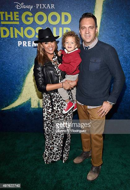 Actress Tamera Mowry Aden John Tanner Housley and Adam Housley attend the World Premiere Of DisneyPixar's THE GOOD DINOSAUR at the El Capitan Theatre...