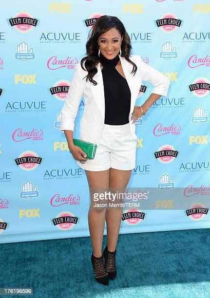 Actress Tamera Mowry attends the Teen Choice Awards 2013 at Gibson Amphitheatre on August 11 2013 in Universal City California