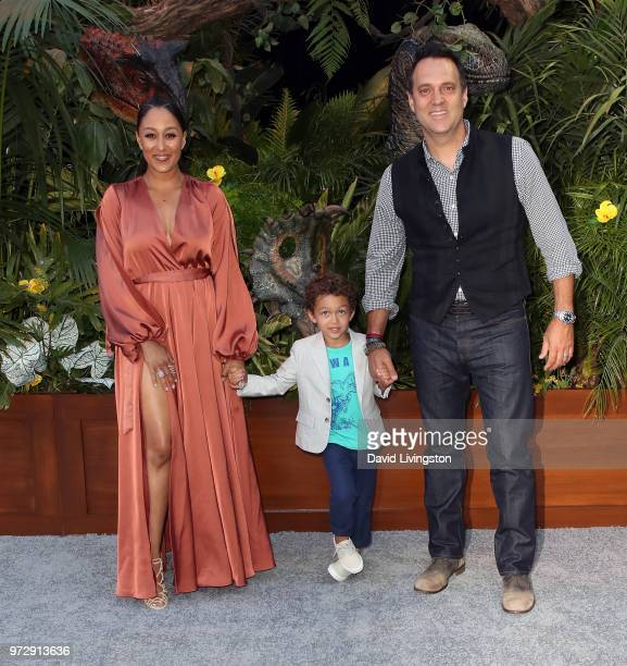 Actress Tamera MowryHousley and Adam Housley attend the premiere of Universal Pictures and Amblin Entertainment's 'Jurassic World Fallen Kingdom' at...