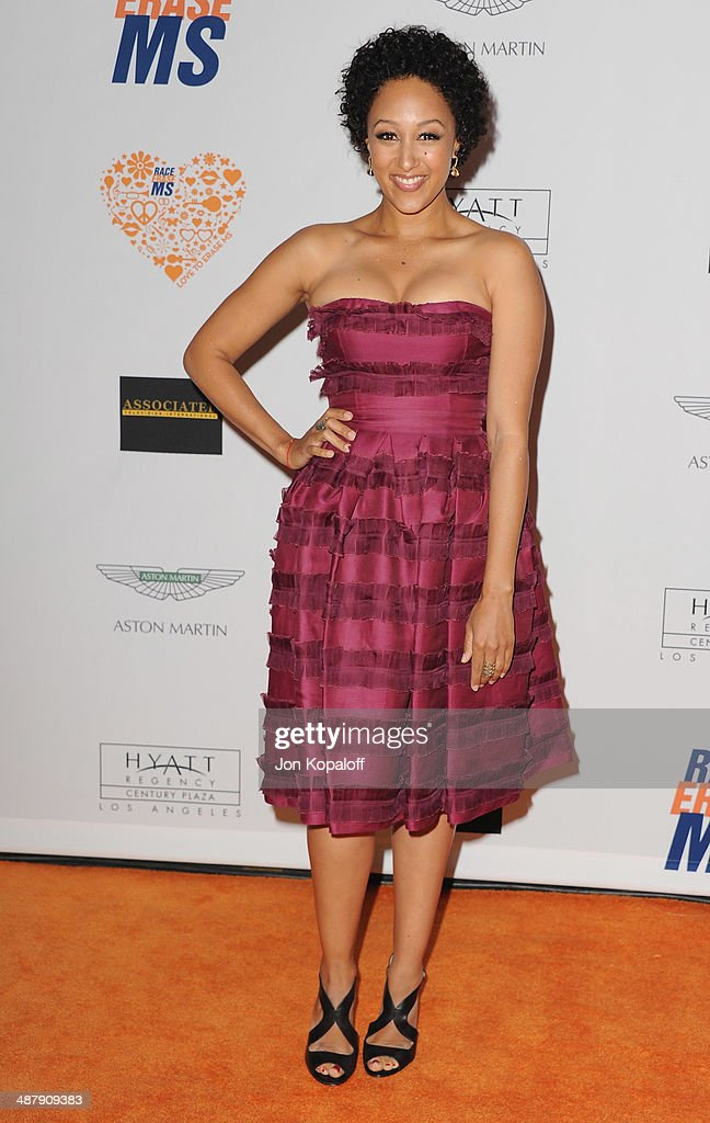 Actress Tamera Mowry-Housley arrives at the 21st Annual Race To Erase MS Gala at the Hyatt Regency Century Plaza on May 2, 2014 in Century City, California.