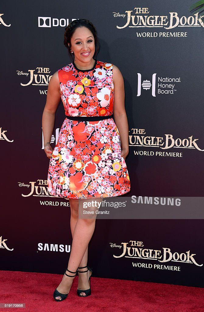 Actress Tamera Mowry-Housley attends the premiere of Disney's 'The Jungle Book' at the El Capitan Theatre on April 4, 2016 in Hollywood, California.