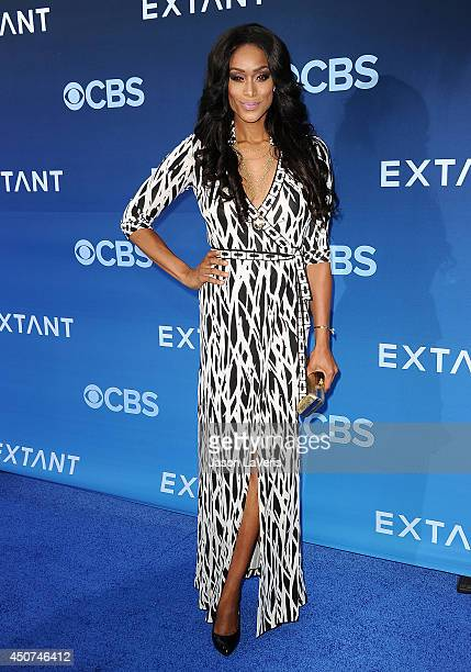 Actress Tami Roman attends the premiere of Extant at California Science Center on June 16 2014 in Los Angeles California