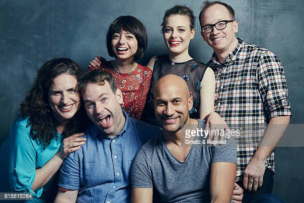 Actress Tami Sagher writer/director Mike Birbiglia actors Kate Micucci KeeganMichael Key Chris Gethard and Gillian Jacobs of 'Don't Think Twice' are...