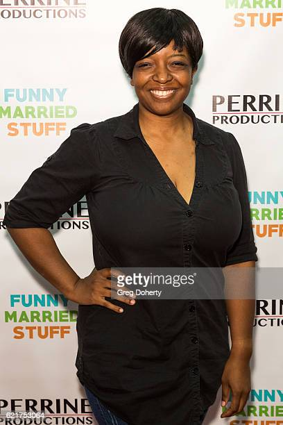 Actress Tamika Simpkins arrives for the Screening Of Perrine Productions' 'Funny Married Stuff' at the ACME Comedy Theatre on November 7 2016 in Los...