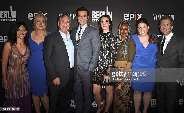 Actress Tamlyn Tomita writer Caroline Goodall President/CEO of EPIX Mark Greenberg actors Richard Armitage Michelle Forbes April Grace EVP of...