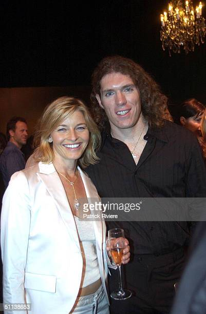 Actress Tammi MacIntosh and guest at the Wayne Cooper fashion show during Mercedes Australia Fashion Week 2003 in Sydney