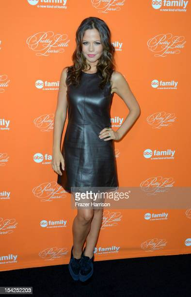 Actress Tammin Sursok arrives at at the Screening Of ABC Family's Pretty Little Liars Special Halloween Episode at Hollywood Forever Cemetery on...