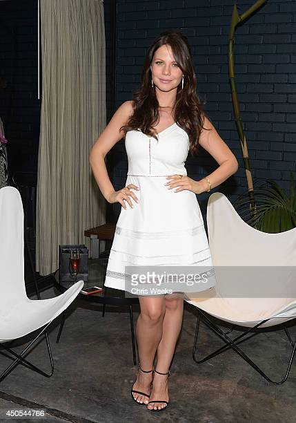 Actress Tammin Sursok attends the Pickett Fall preview hosted by Caley Rinker at Chateau Marmont on June 12 2014 in Los Angeles California