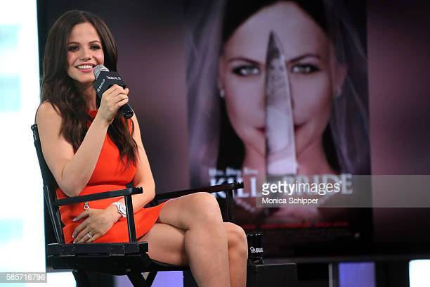 Actress Tammin Sursok speaks at AOL Build Speaker Series Tammin Sursok You May Now Kill The Bride at AOL HQ on August 3 2016 in New York City