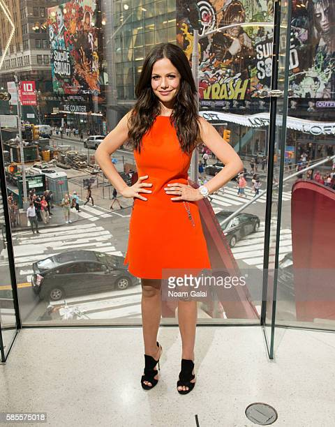 Actress Tammin Sursok visits 'Extra' at HM Times Square on August 3 2016 in New York City