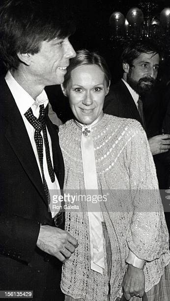 Actress Tammy Grimes and husband attending 'Entertainment Tonight Party' on January 5 1983 at the Tavern on the Green in New York City New York