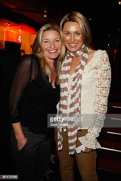 Actress Tammy Macintosh and actress Allison Cratchley arrive for the opening night of `Tell me on a Sunday' at the Seymour Centre on August 20 2008...