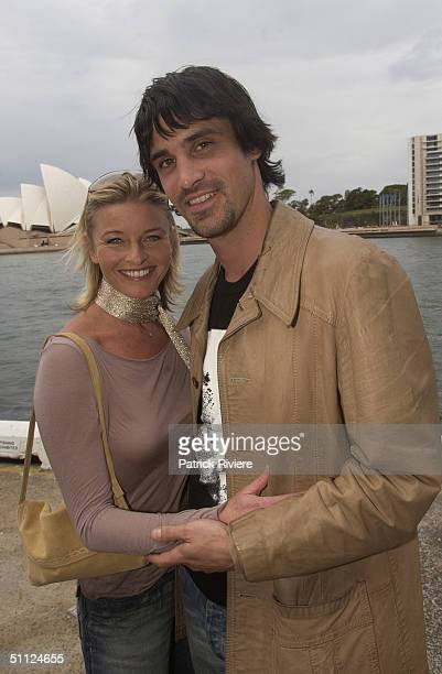 Actress Tammy MacIntosh with Ben Tari, of the cast of the Australian TV medical drama 'All Saints' attending lunch at Wildfire restaurant, in the...