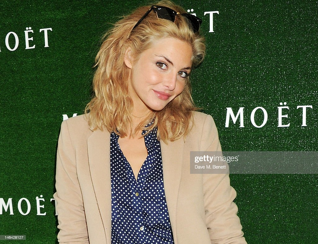Actress Tamsin Egerton attends the Moet & Chandon suite at The Queen's Club Tennis Championships on June 16, 2012 in London, England.