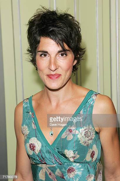 Actress Tamsin Greig arrives at the TV Quick and TV Choice Awards at the Dorchester Hotel Park Lane on September 4 2006 in London England The annual...