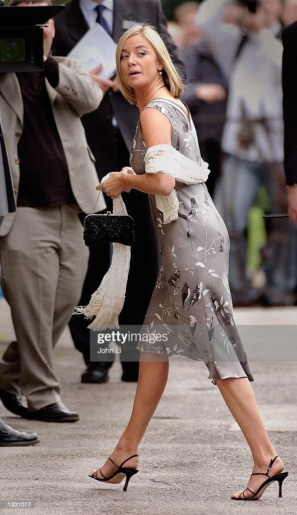 Actress Tamsin Outhwaite Arrives For The Wedding Of Singer Kym Marsh And Actor Jack Ryder August