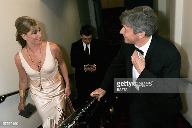 Actress Tamsin Outhwaite leaves the stage having presented an award at the Pioneer British Academy Television Awards 2006 at the Grosvenor House...