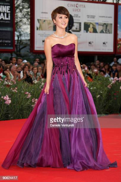 Actress Tan Weiwei attends the Closing Ceremony Red Carpet And Inside at The Sala Grande during the 66th Venice Film Festival on September 12 2009 in...