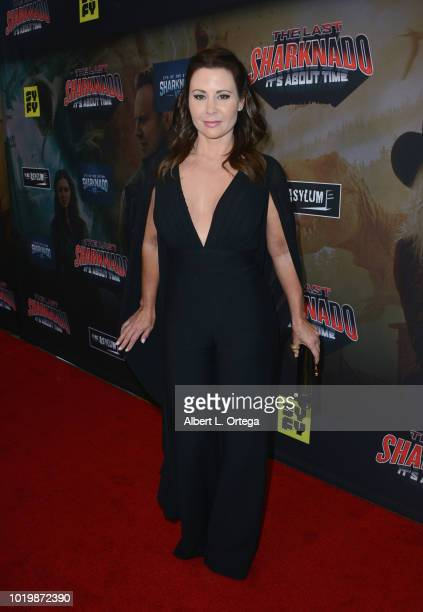 Actress Tandi Tugwell arrives for the Premiere Of The Asylum And Syfy's 'The Last Sharknado It's About Time' held at Cinemark Playa Vista on August...