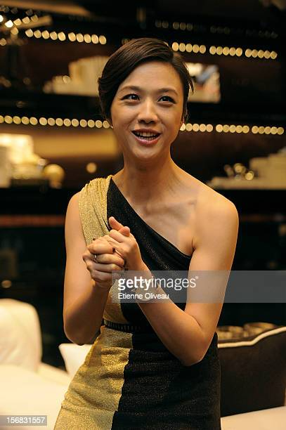 Actress Tang We is seen during the IWC Flagship Boutique Opening on November 22 2012 in Beijing China