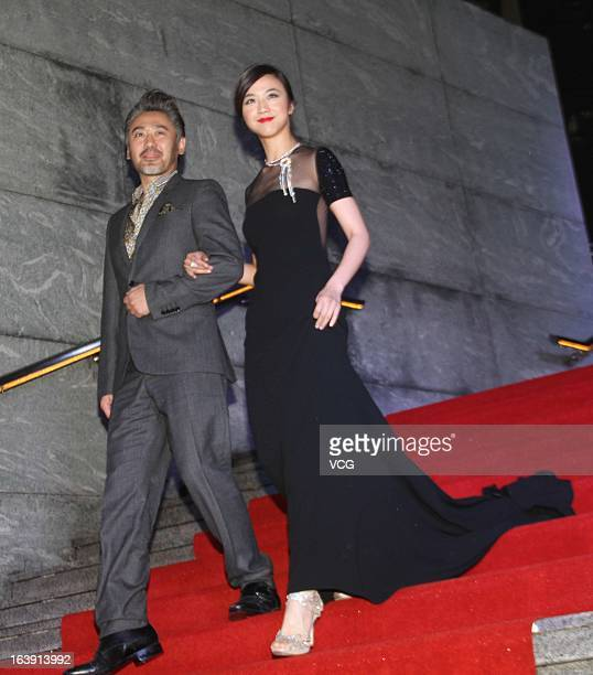 Actress Tang Wei and actor Wu Xiubo attend 'Finding MrRight' premiere at Palace Cinema on March 17 2013 in Shanghai China