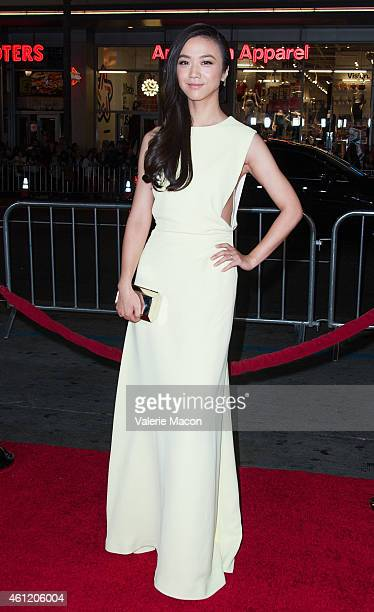 Actress Tang Wei arrives at the Premiere Of Universal Pictures And Legendary Pictures' 'Blackhat' at TCL Chinese Theatre IMAX on January 8 2015 in...