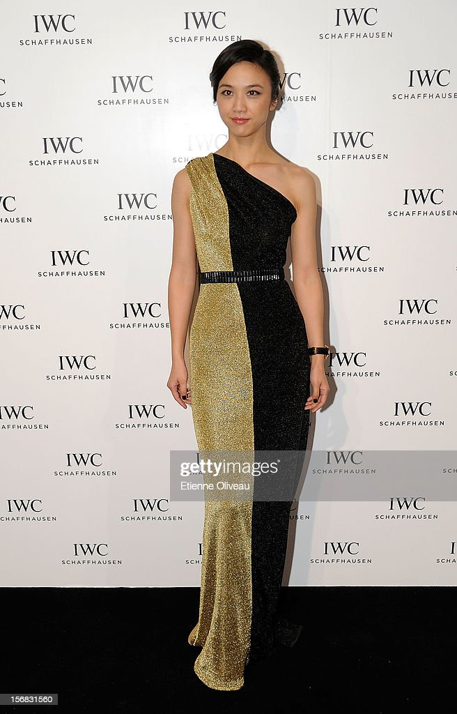 Actress Tang Wei poses for the photogrpahs during the IWC Flagship Boutique Opening on November 22, 2012 in Beijing, China.
