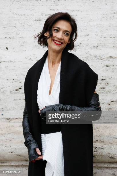 """Actress Tania Garribba attends """"Il Primo Re"""" photocall at The Space Cinema Moderno on January 24, 2019 in Rome, Italy."""