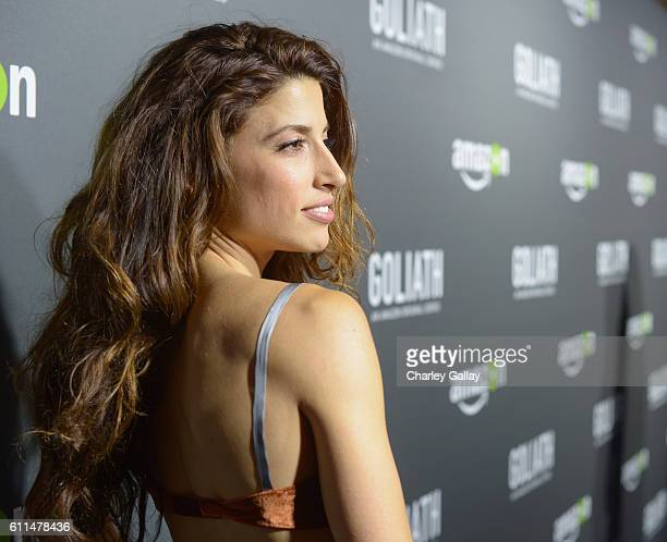 Actress Tania Raymonde attends the Amazon red carpet premiere screening of original drama series Goliath at The London West Hollywood on September 29...
