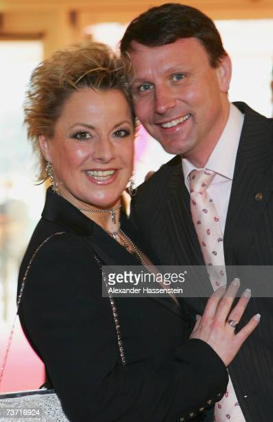 Actress Tanja Schumann arrives with Stefan Burmeister for the Herbert Award 2006 Gala at the Elysee Hotel on March 26 2007 in Hamburg Germany