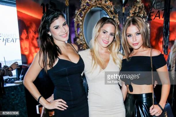 TV actress Tanja Tischewitsch TV actress Angelina Heger and German singer Kim Gloss during the Urban Decay Naked Heat Launch at House of weekend on...