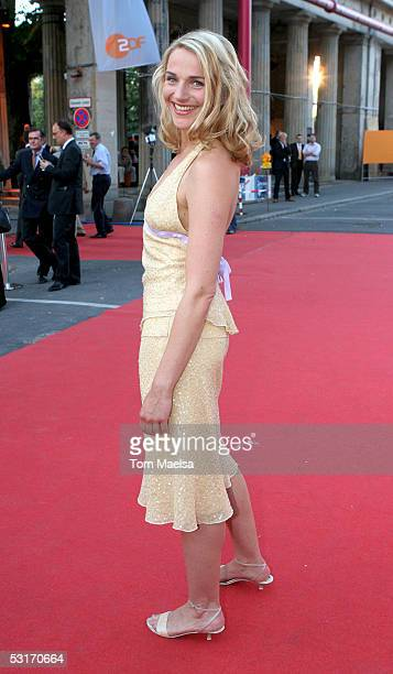 Actress Tanja Wedhorn attends the ZDF Television Summer Party June 29 2005 in Berlin Germany