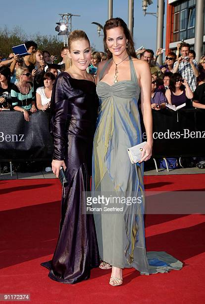 Actress Tanja Wenzel and actress Alexandra Kamp arrive for the German TV Award 2009 at the Coloneum on September 26 2009 in Cologne Germany