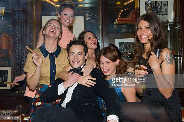 Actress Tanya Fischer, Ashley Stanton, producer Frankie Grande, Lynne Volk, Meghan Miller of Bambi Killers and Dawn Dunning of Bambi Killers attends...