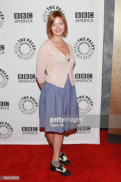 Actress Tanya Fischer attends From Homicide To Copper Fontana/Levinson In Conversation at The Paley Center for Media on August 16 2012 in New York...