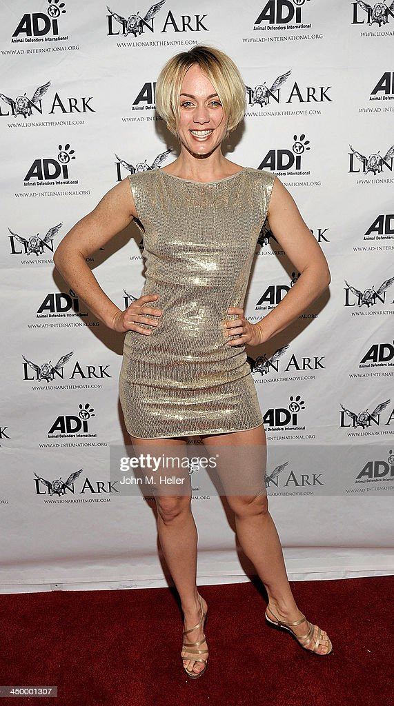Actress Tanya Kay attends the premiere of 'Lion Ark' at the Charles Aidikoff Screening Room on November 15, 2013 in Beverly Hills, California.