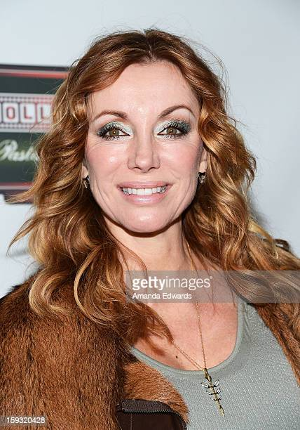 Actress Tanya Newbould arrives at the Hooray For HollywoodHigh Gala at the El Capitan Theatre on January 10 2013 in Hollywood California