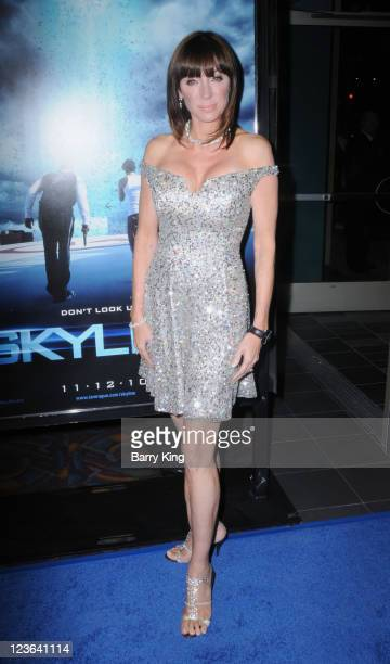 Actress Tanya Newbould arrives for the Skyline Los Angeles Premiere at Regal Cinemas LA Live on November 9 2010 in Los Angeles California