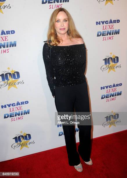 Actress Tanya Roberts arrives for the Norby Walters' 27th Annual Night Of 100 Stars Black Tie Dinner Viewing Gala held at The Beverly Hilton Hotel on...