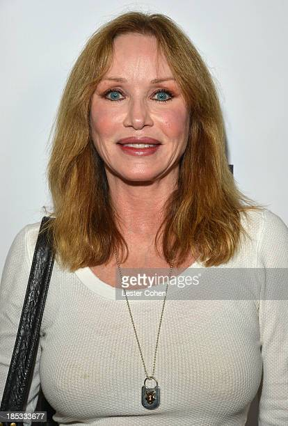 Actress Tanya Roberts attends 108 Rock Star Guitars book release at Mr Musichead Gallery on October 17 2013 in Los Angeles California