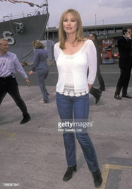 Actress Tanya Roberts attends the FOX Television Upfront Party on May 17 2001 aboard the USS Intrepid at Pier 86 in New York City New York