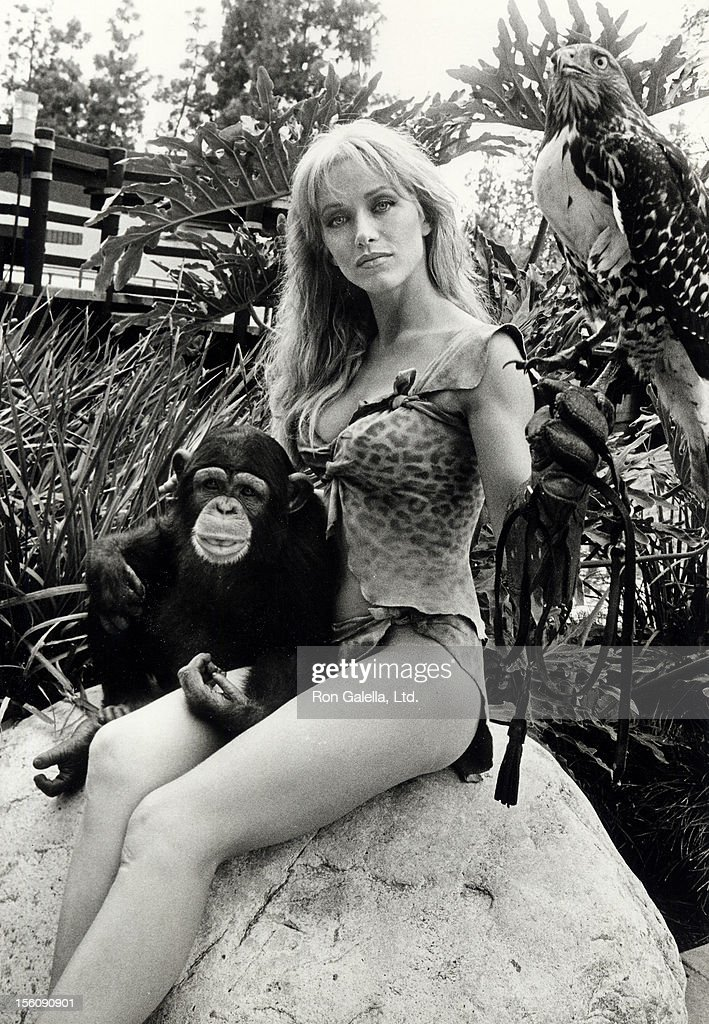 Actress Tanya Roberts On Location Filming A Movie On