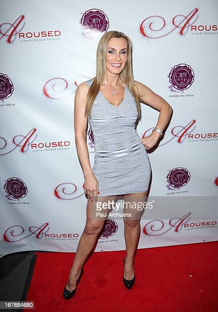 Actress Tanya Tate attends the Los Angeles premiere of 'Aroused' at the Landmark Theater on May 1 2013 in Los Angeles California