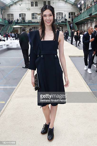 Actress Tao Okamoto attends Chloe show as part of the Paris Fashion Week Womenswear Spring/Summer 2014 held at Lycee Carnot on September 29 2013 in...