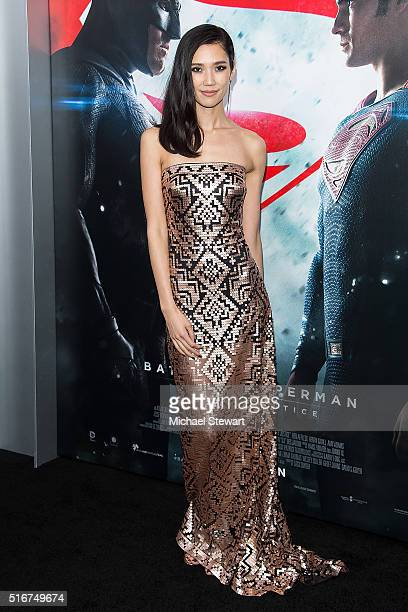 """Actress Tao Okamoto attends the """"Batman V Superman: Dawn Of Justice"""" New York premiere at Radio City Music Hall on March 20, 2016 in New York City."""